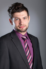 Young businessman wearing suit