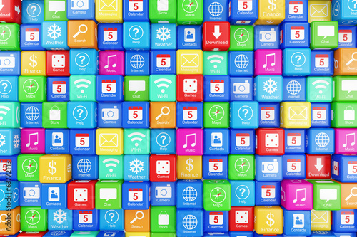 Abstract Application Icons Background