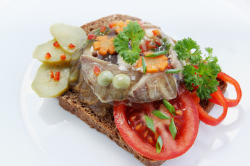 jellied tongue on toast