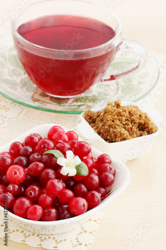 cranberry juice and brown sugar