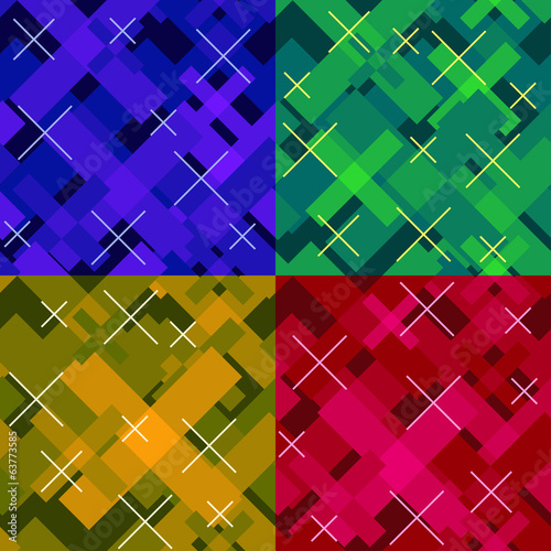 colorful modern seamless cross pattern