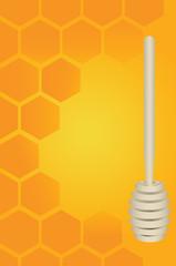 Honey dipper and honeycomb