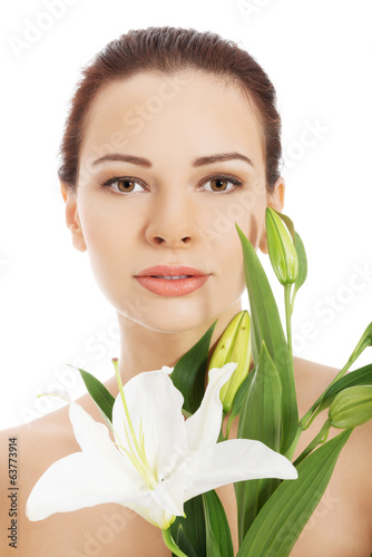 Beautiful face of spa woman