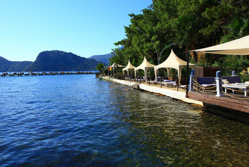 restaurant by the ocean marmaris turkey
