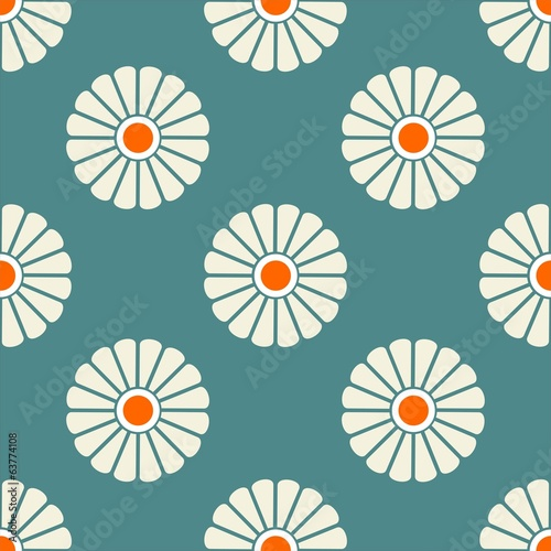 Attractive vector seamless patterns tiling margeriten