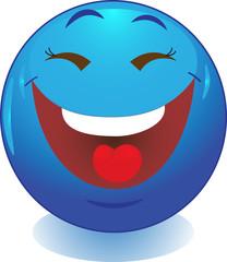 Смешной смайл, улыбка, иконка