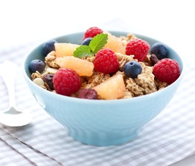 Breakfast cereals with fruits