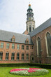 Famous abbey tower in Middelburg, Zeeland, the Netherlands