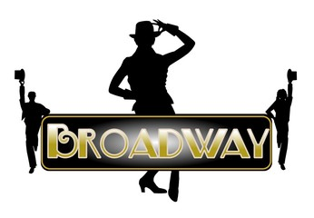 Broadway concept with principle female dancer