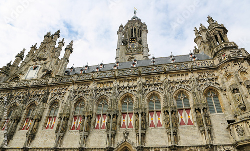 Famous Town Hall of Middelburg, Zeeland, The Netherlands