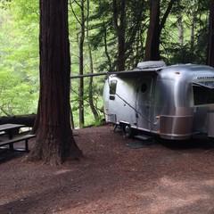 Airstream camping in Big Sur