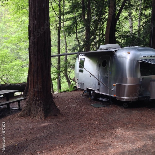 Airstream camping in Big Sur