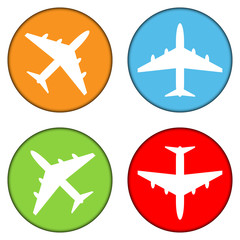 Airplane buttons set