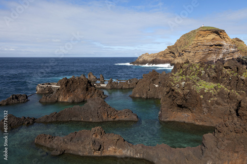 Natural pools in Porto Moniz, Madeira, Portugal