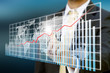 Businessman graph concept