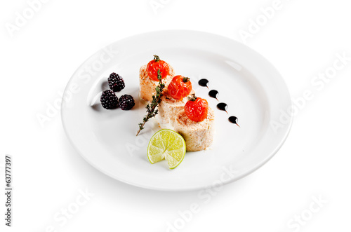 fish snack on white background