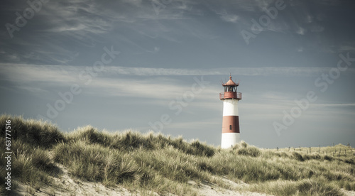 Lightouse on dune - changed color for vintage effect.