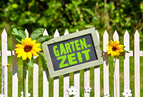 canvas print picture Gartenzeit
