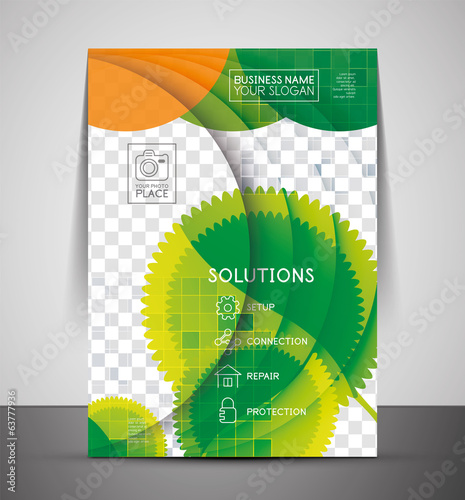 Green design business corporate print template