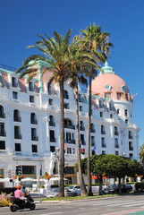 NICE, FRANCE – AUGUST 19: Luxury Hotel Negresco on August 19,