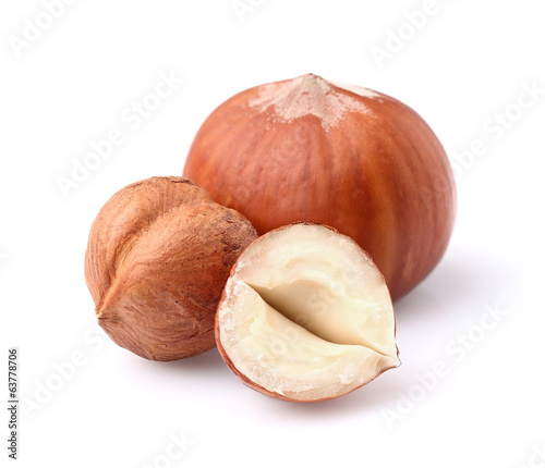 Hazelnuts in closeup