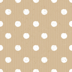 Seamless Cardboard Paper Polka Dots Background