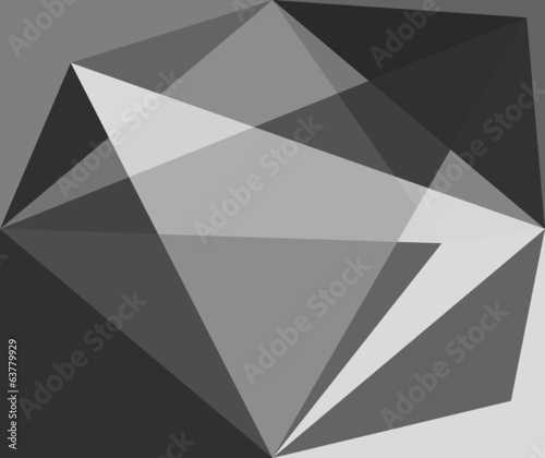 Abstract grey origami background