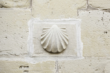 Shell pilgrims stone