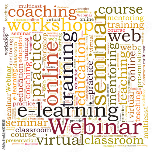 Webinar word cloud