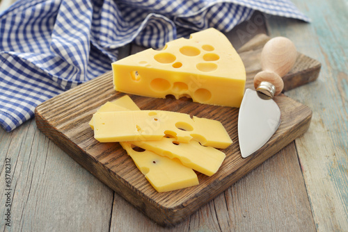 Cheese with big holes