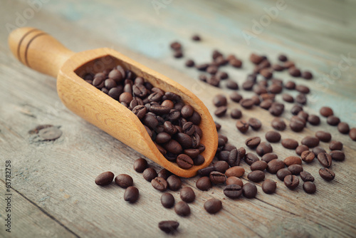 Scoop with coffee beans
