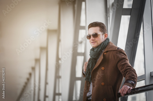 businessman on the modern background