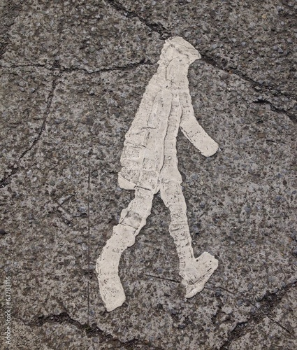 pedestrian painted crossing