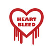 Heartbleed bug illustration with text