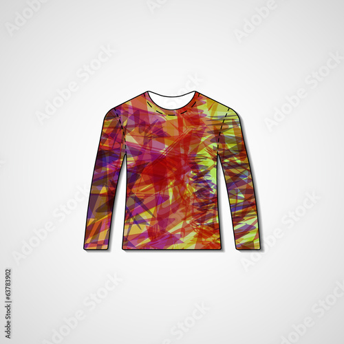 Abstract illustration on sweater