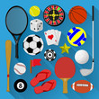 Flat icons bundle. Sport and recreation concept