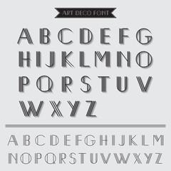 Art Deco Type Font, Vintage Typography