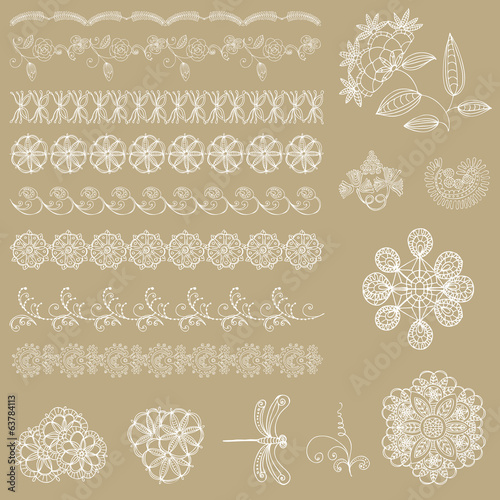 Set of lace ribbons - for design and scrapbook