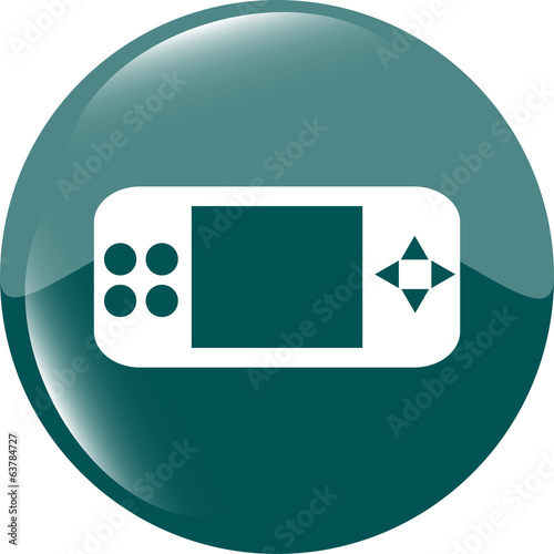 game controller web icon, button isolated on white