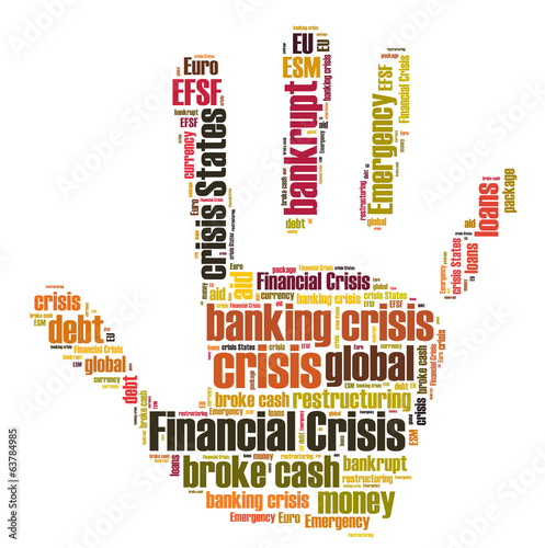 Financial crisis word cloud