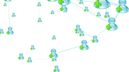 Social network: connecting people. Adding friends on the web