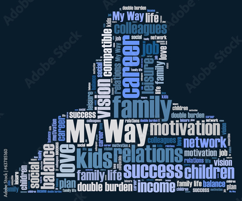 My way word cloud