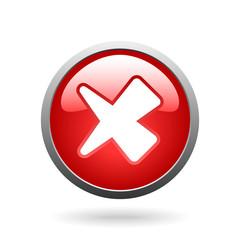vector red check mark button