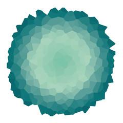 Grüne Kristalle - abstrakter Hintergrund - vektor