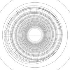 Wire-frame spiral