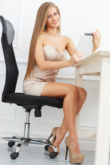 Secretary in the office