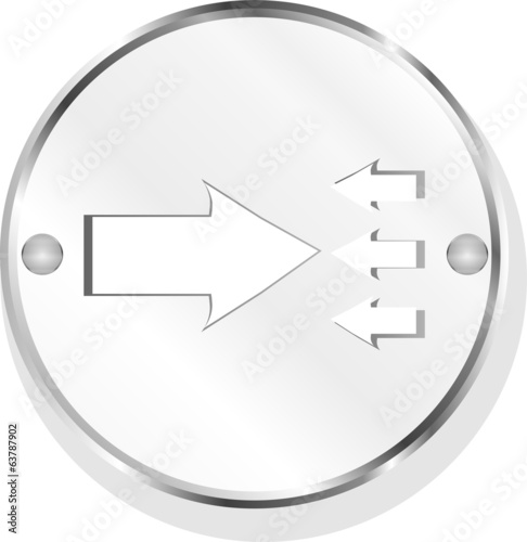 arrow icon web button isolated on white