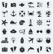 Set of sea and beach icons. Vector illustration. - 63788329