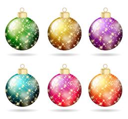 Weihnachtskugeln Glitzer Set