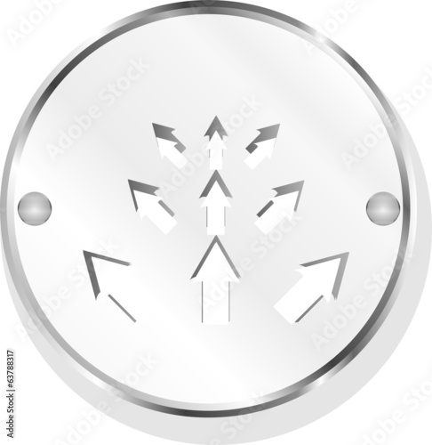 arrow set. web icon button isolated on white